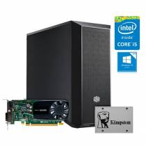 WORKSTATION Intel i5-7400 QUADRO P620 08GB SSD120GB 1TB 500W