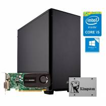 WORKSTATION Intel i5-7400 QUADRO P400 08GB SSD120GB 1TB 500W